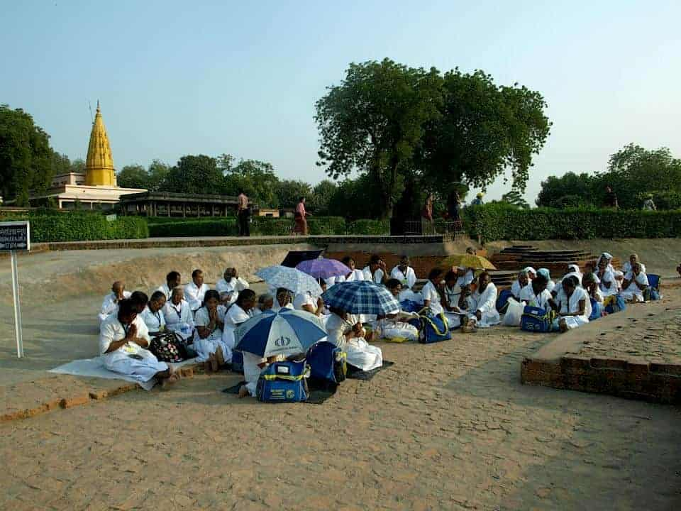 School children in Temple of Varanasi