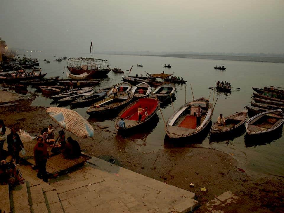 River boats in Ganges