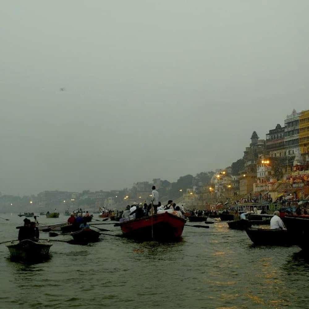 Exploring Varanasi in India.