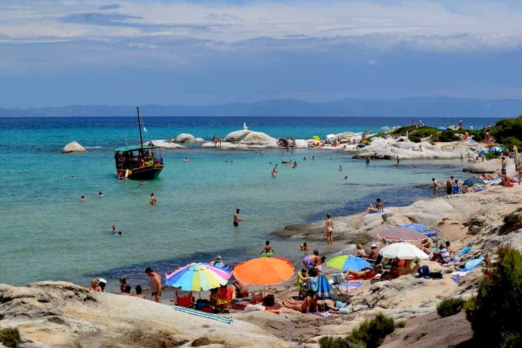 Kavourotripes - orange - beach in halkidiki