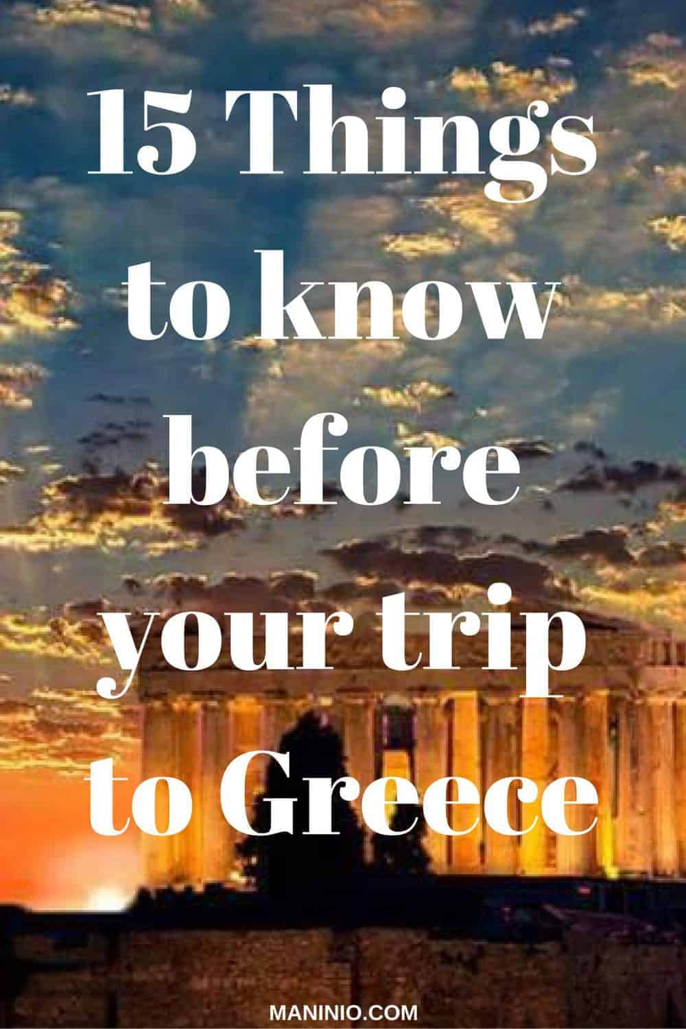 things to know before your visit in Greece pinterest