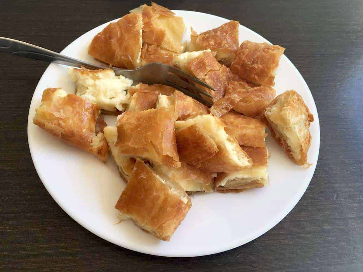 A plate of Greek cheese pie