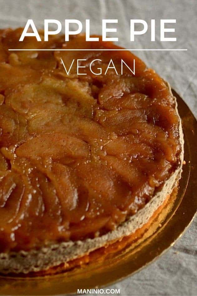Upside down Apple pie | Vegan. maninio.com #applepies #veganpies