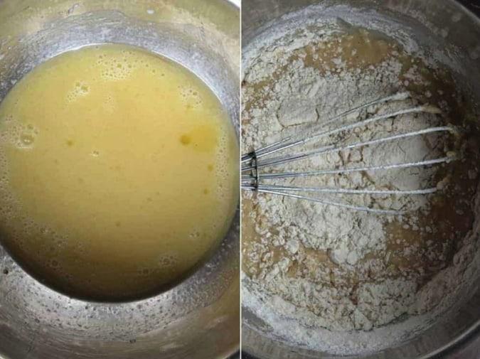 Apple pie dough preparation