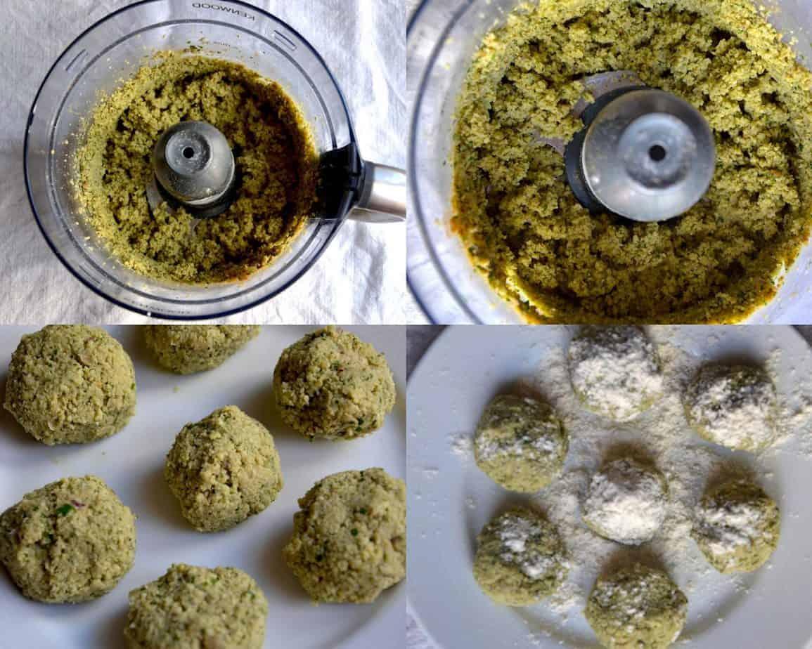 Μαγείρεμα μείγματος φαλαφέλ στο μπλάντερ. | Μέση Ανατολή, Vegan και Χωρίς Γλουτένη. maninio.com