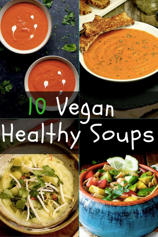 10 best Healthy vegan soups. maninio.com #wintersoups #veganhealthysoups