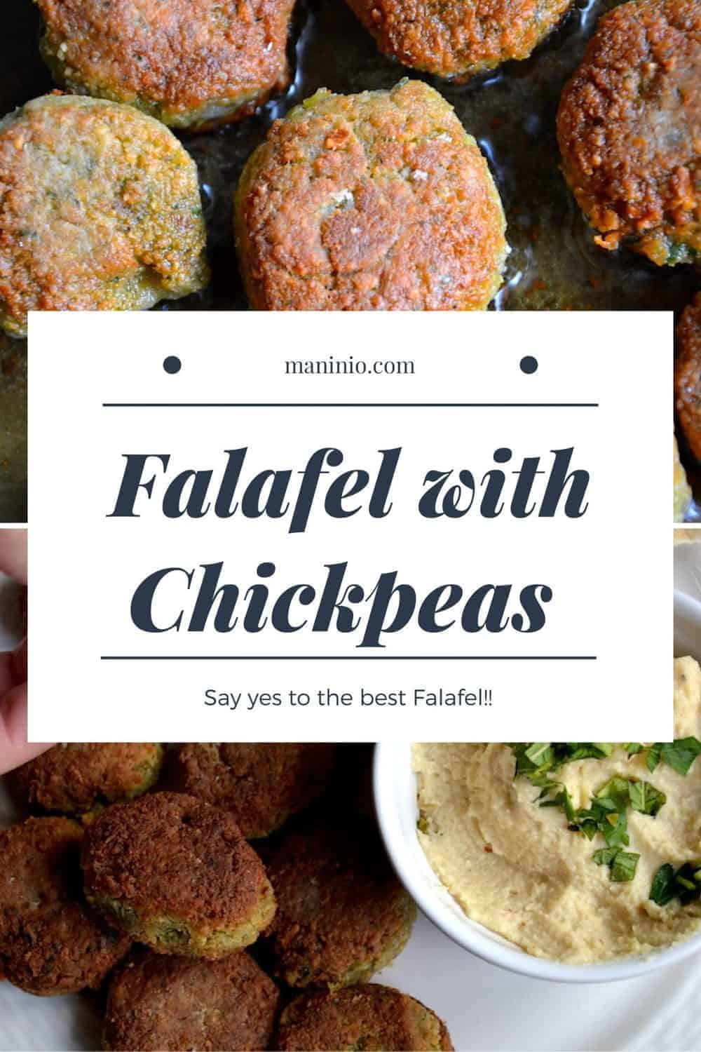 The best Original Falafel with Chickpeas | Middle East. maninio.com #chickpeasfalafel #arabicfalafe