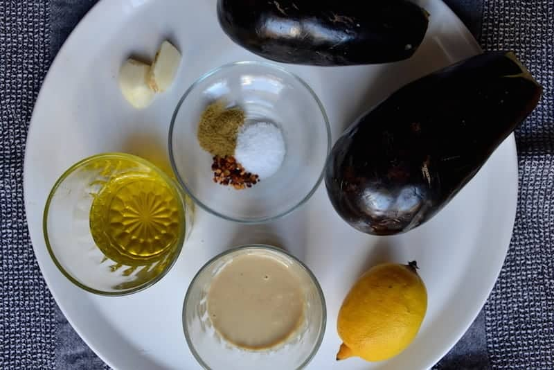 Ingredients for Arabic Moutabal