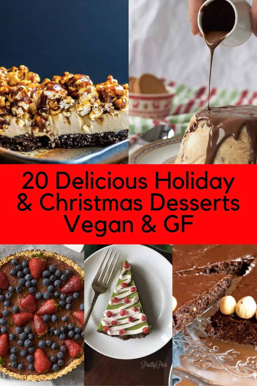 15+ Delicious Holiday and Christmas Desserts | Vegan and Gluten Free. maninio.com #christmasdesserts #vegandesserts