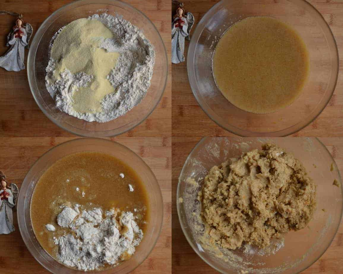 Ingredients for the Christmas Cookies (melomakarona)