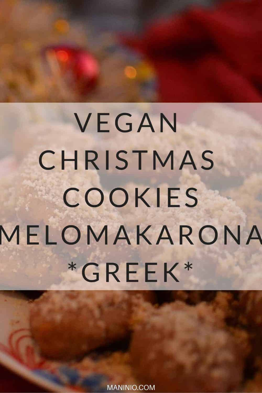 Vegan Christmas Cookies (melomakarona) | greek and low in calories10.maninio.com #christmascookies #greekcookies
