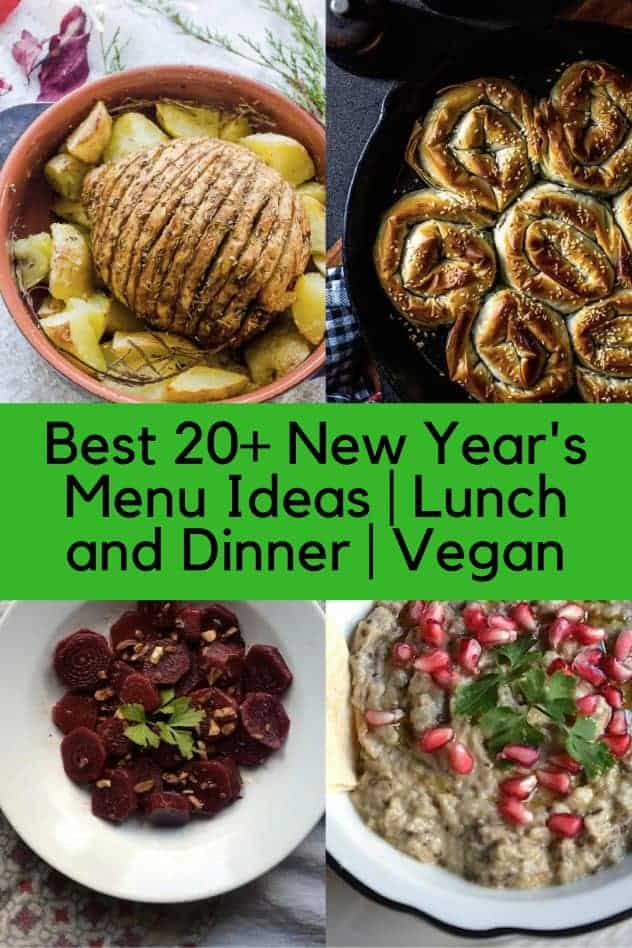 Best 20+ New Year's Menu Ideas | Lunch and Dinner | Vegan. maninio.com