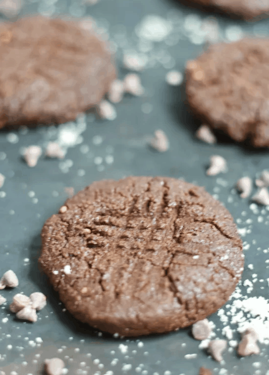 Cocoa Almond Cookies for Christmas