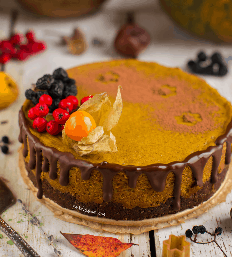 Tofu and Pumpkin Cheesecake [Vegan and Gluten-Free]