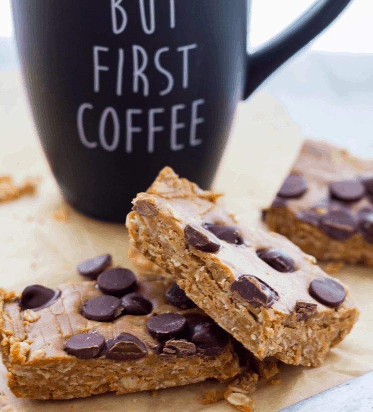Vegan peanut butter oat bar no bake