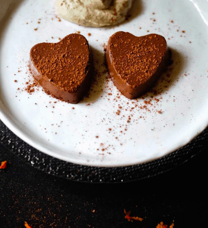 REFINED SUGAR-FREE CHOCOLATE ORANGE SEMIFREDDO WITH SWEET CASHEW CREAM