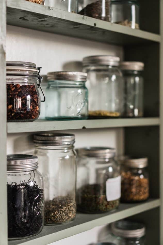 Vegan Shopping Pantry jars
