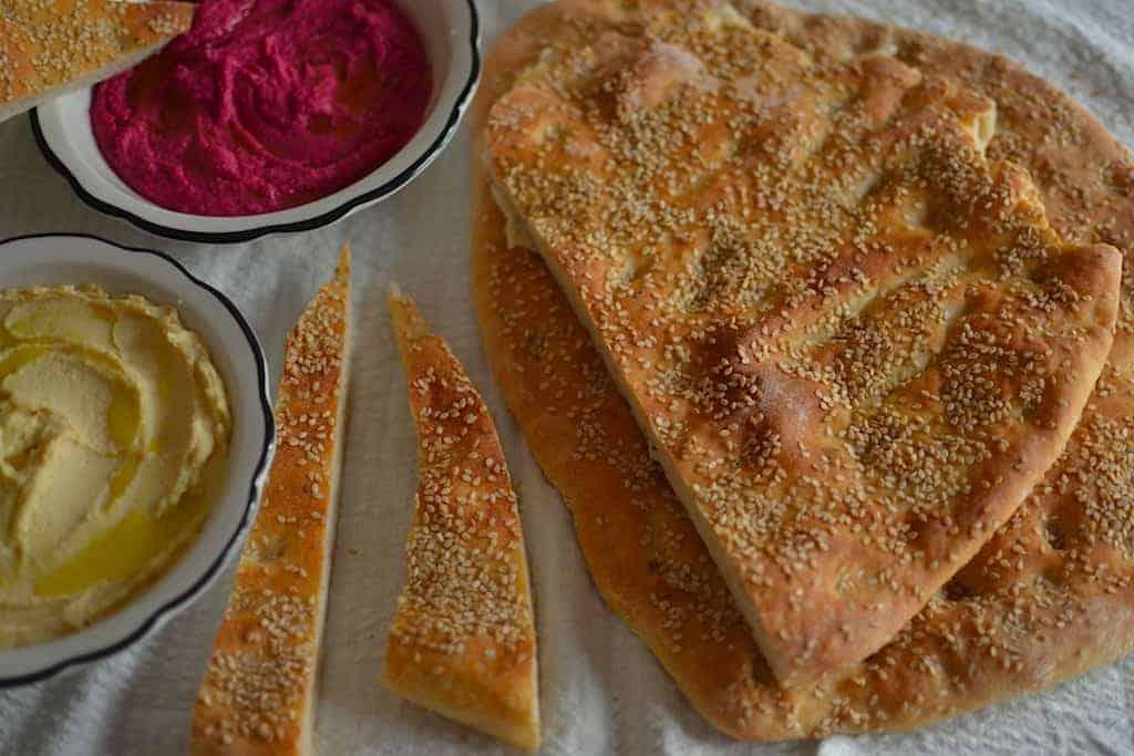 Αραβικό χούμους και χούμους παντζάρι - Σπιτική Λαγάνα με γλυκάνισο