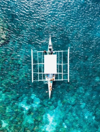 A boat in the see in cebu beach resorts
