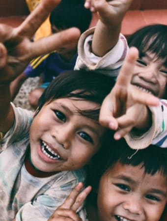 Happy kids in Volunteer Holidays in Cambodia