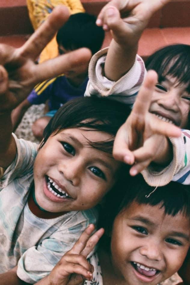Happy kids in Volunteer Holidays in Cambodia