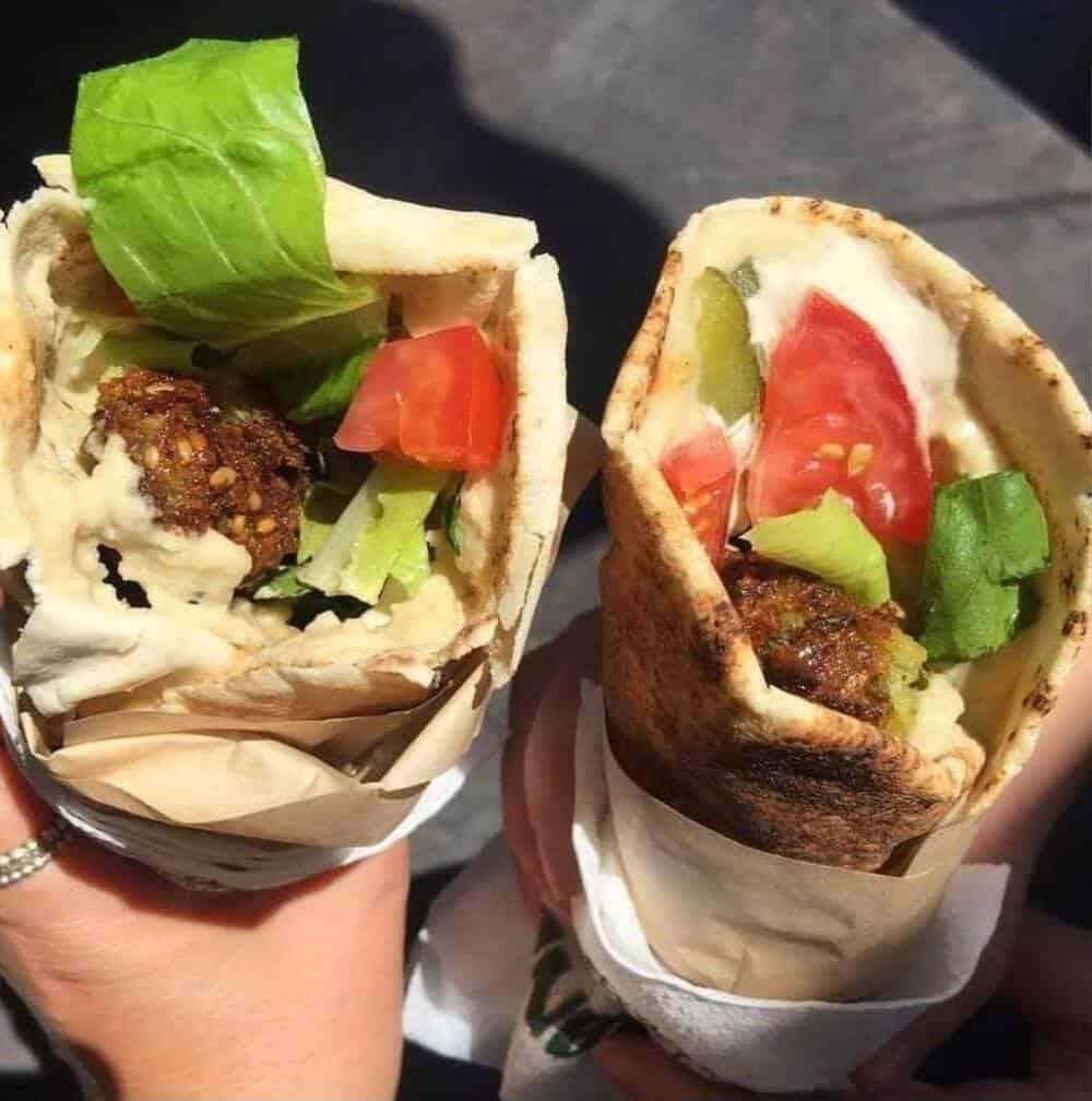 2 falafel wraps.