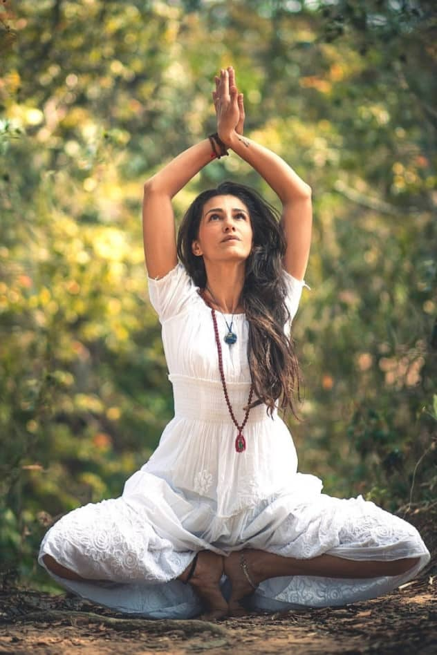 Sitting yoga pose