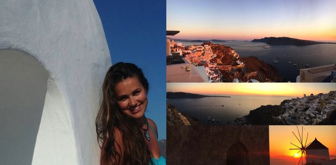 photo collage in santorini