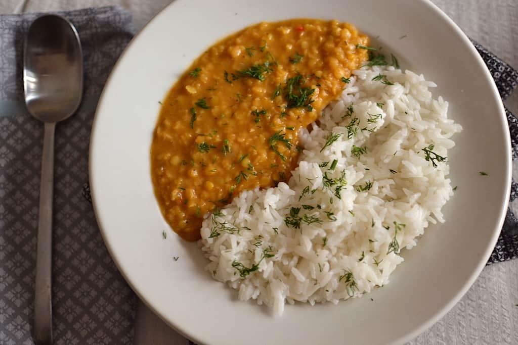 Lentil Dal with Basmati Rice