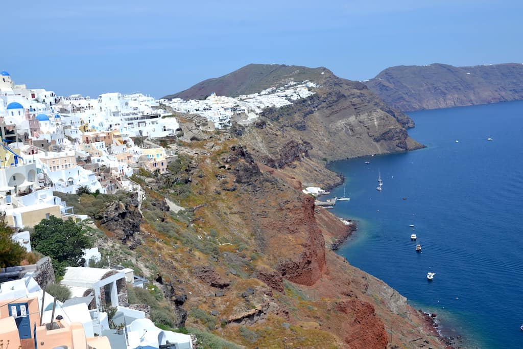 caldera view in santorini
