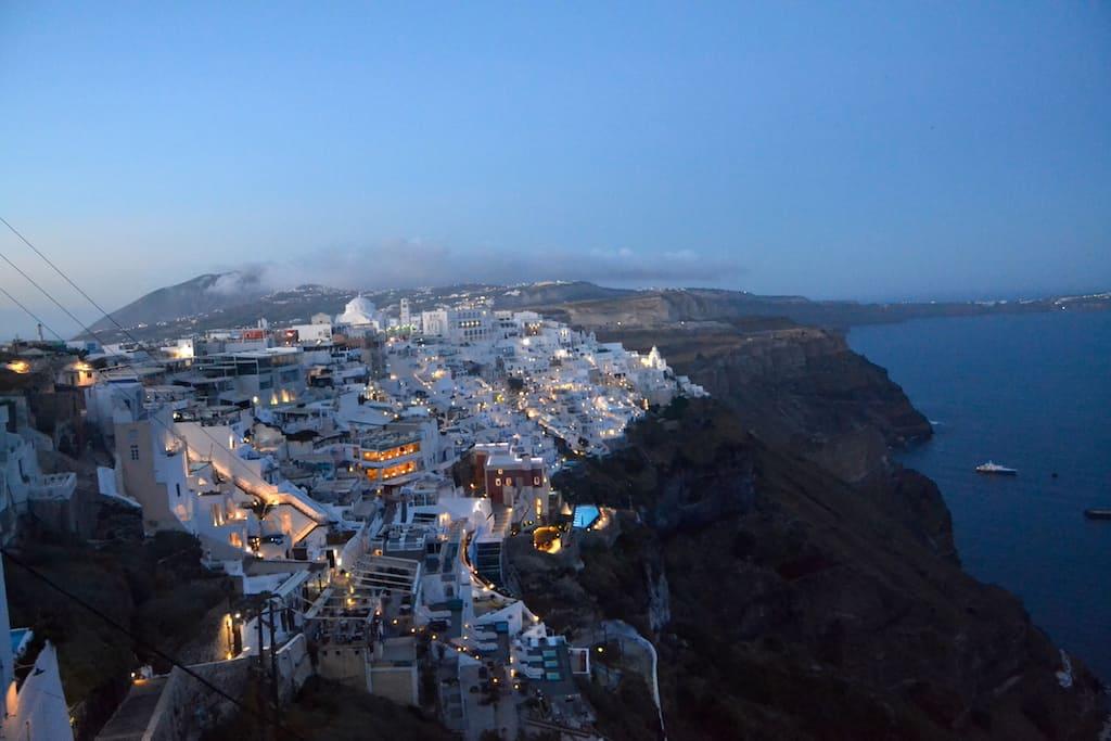 Caldera in Santorini