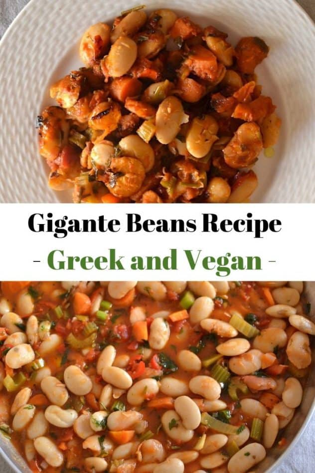 Gigante Bean Recipe photo collage