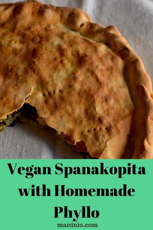 Vegan Spanakopita pinterest collage