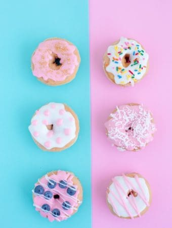 pink and blue donuts
