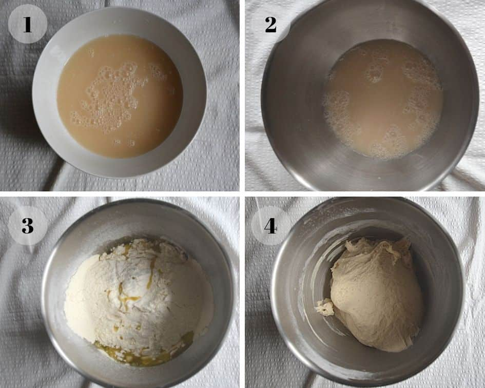 Preparation of the Greek bread - dough