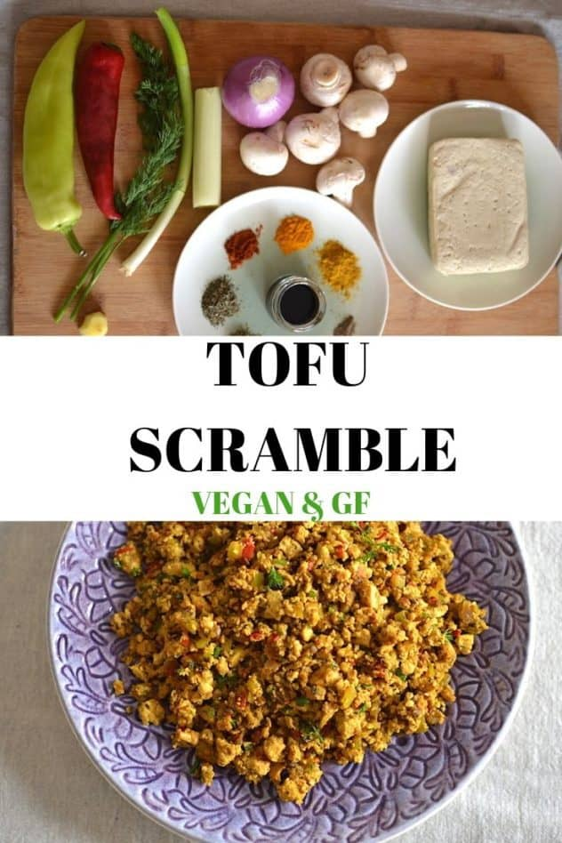 Tofu scramble collage