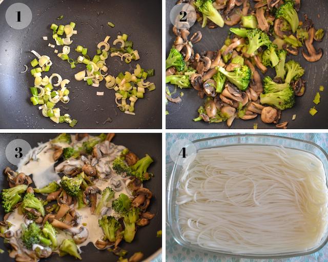 Easy Vegan pad thai collage