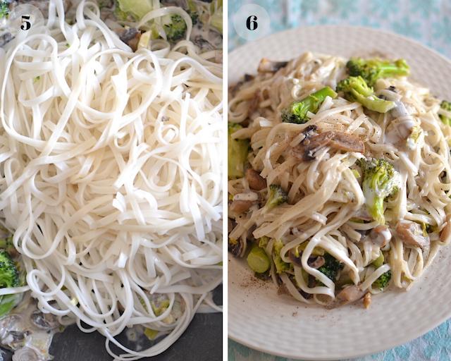 vegan pad thai collage
