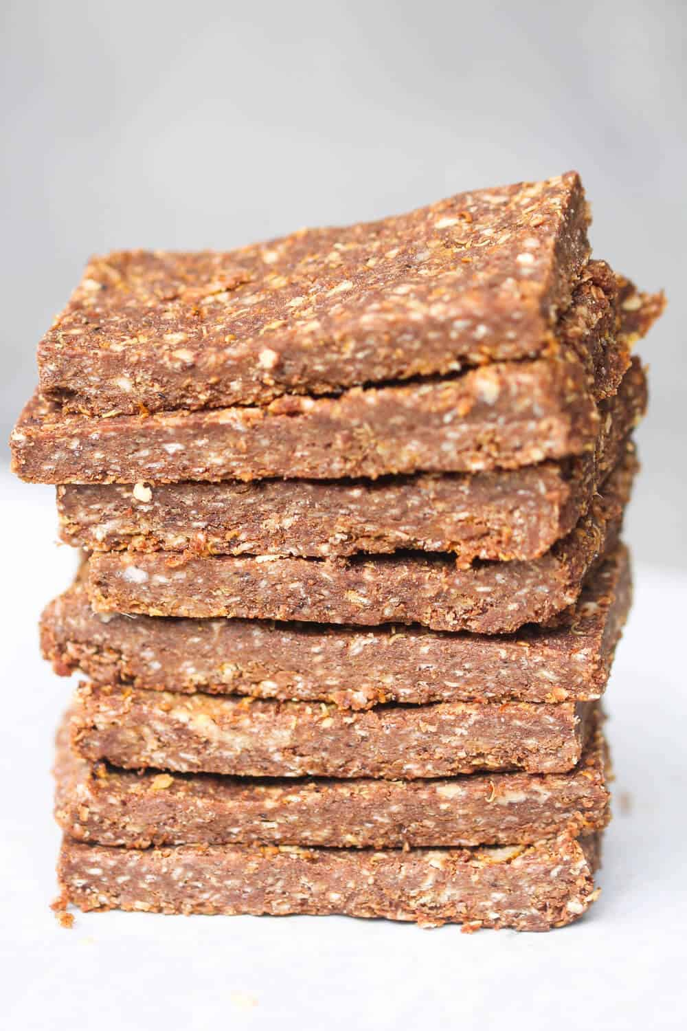 slices of granola bars
