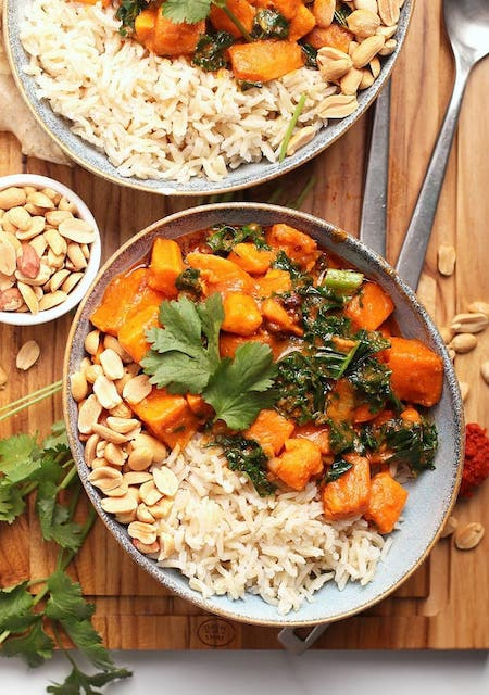 sweet potato curry with peanuts