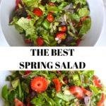 spring salad collage