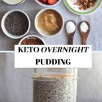 keto pudding collage