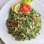 tabbouleh in a white plate