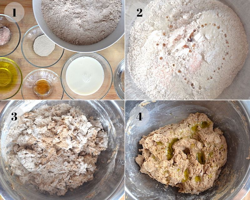 collage of making bread