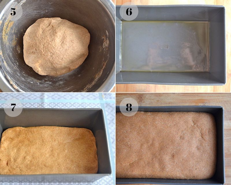 Dough in a pan - collage