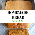 Collage of vegan bread