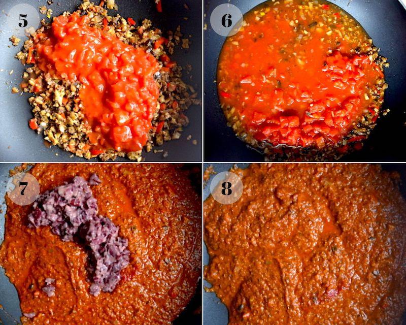 tomato sauce collage