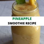 Pineaapple smoothie in a collage