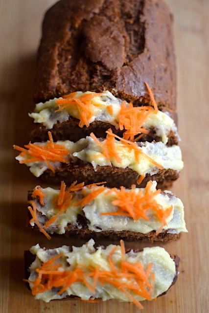 carrot cake in slices