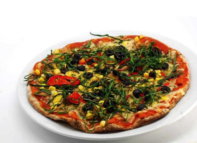 Vegan pizza in Chile